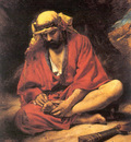 Bonnat Leon An Arab Removing a Thorn from His Foot