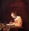 Borch ter Gerard Woman writing a letter Sun
