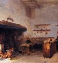 Bosboom Johannes Cloister Kitchen Sun