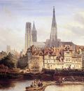 Bosboom Johannes Parisian Quay In Rouen Sun