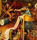 Bosch Lustarnas tradgard detail from Right wing, Bird Heade