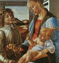 botticelli, sandro madonna and child with an angel, after