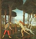 BOTTICELLI, SANDRO PANEL I OF THE STORY OF NASTAGIO DEGLI