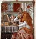 Botticelli St Augustine, Ognissanti, Firenze