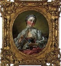 Boucher Portrait of Madame Boucher, c  1744 1745, 34 x 28 cm