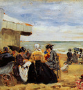 Boudin Eugne On the beach Sun