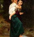 Bouguereau William Le Passage du gue