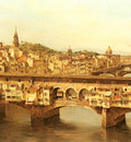 Brandeis Antoinetta View Of The Ponte Vecchio Florence