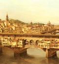 Brandeis Antoinetta View Of The Ponte Vecchio Florence