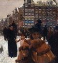 Breitner George Hendrik The Singelbrug in Amsterdam Sun