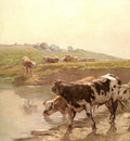 Brozik Vaclav Cattle In A Pasture
