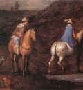BRUEGHEL Jan the Elder Travellers On The Way detail