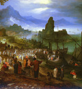 Brueghel Jan the Elder 1568 to 1625 Christ Preaching At The Seaport O P 26 4 by 35 7cm