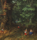 Brueghel Jan the Elder Rest on the Flight to Egypt detail