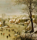 Bruegel d a  Winter Landscape with a Bird Trap, 1565, 38x56