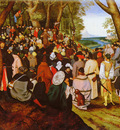 brueghel pieter the younger 1564 to 1638 a landscape with saint john the baptist praching o p
