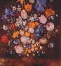 brueghel bouquet in clay vase c1599 or c1607