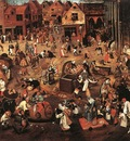 BRUEGEL Pieter the Younger Battle Of Carnival And Lent