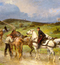 Brunet Houard Pierre Auguste Changing Horses