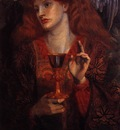 al c15 rossettidantegabriel the damsel of the sanct grail