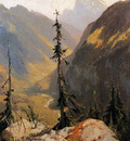 Calame Alexandre Lutschental with the Wetterhorn Sun