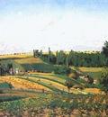 pissarro harvest landscape at pontoise