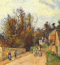 pissarro mailcoach, road from ennery to the hermitage