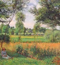 pissarro morning, sun effect, eragny