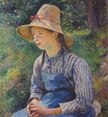 pissarro young peasant girl wearing hat
