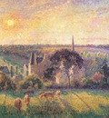pissarro countryside and eragny church and farm