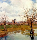 pissarro landscape with flooded fields