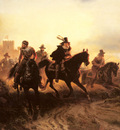 Camphausen Wilhelm The Cavalry Retreat