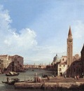 CANALETTO Grand Canal From Santa Maria Della Carita To The Bacino Di San Marco