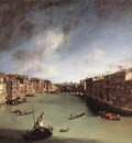 CANALETTO Grand Canal Looking Northeast From Palazo Balbi Toward The Rialto Bridge