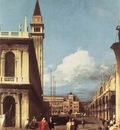 CANALETTO The Piazzetta Looking Toward The Clock Tower