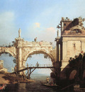 Canaletto Canal Giovanni Capriccio and ruined arcade Sun