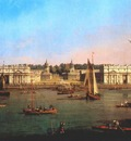 Canaletto Greenwich Hospital From The North Bank Of The Thames