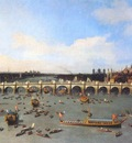 canaletto london, westminster bridge from the north on lord mayors day, 19 october
