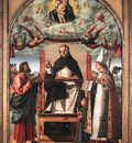 St Thomas in Glory between St Mark and St Louis of Toulouse WGA