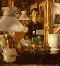 Casas ramon Autoportrait Dans L Atelier