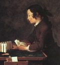 CHARDIN BOY PLAYING WITH CARDS