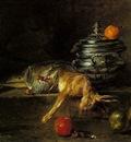 CHARDIN THE SILVER TUREEN, 1728, OIL ON CANVAS