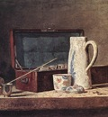 Chardin Still Life with Pipe an Jug