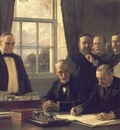 the signing of the protocol of peace between the united states and spain on august 12