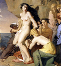 chasseriau theodore andromeda chained to the rock by the nereids