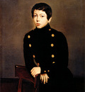 Chasseriau Theodore Portrait of Ernest Chasseriau The Painter s Brother in the Uniform of the Eco