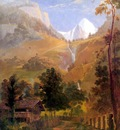 hudson rv sc csg025 the wetterhorn and falls of reichenbach 1832 samuel morse
