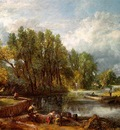 CONSTABLE STRATFORD MILL, 1820, OIL ON CANVAS