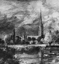 Constable John Salisbury cathedral Sun