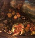 Cooper Joseph Teal Still Life Of Fruit